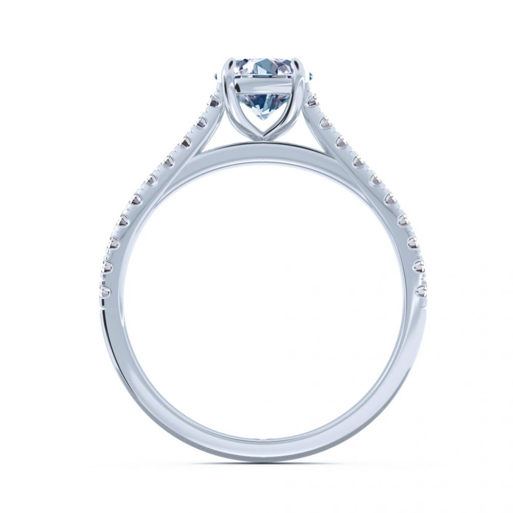cathedral setting engagement ring