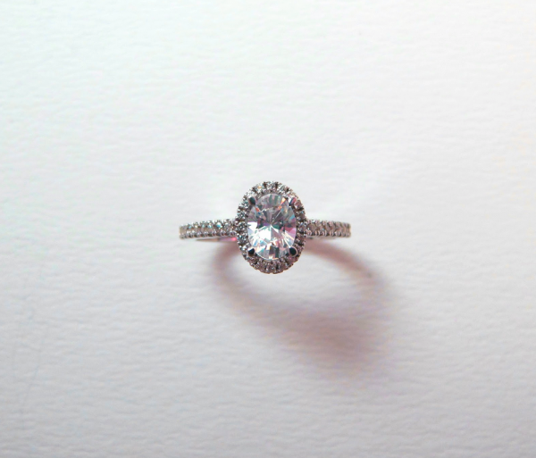 halo engagement ring