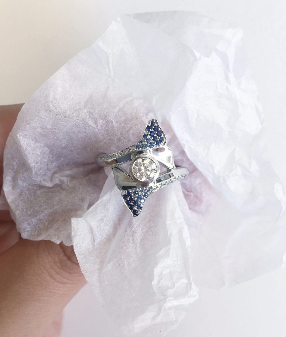 whale engagement ring