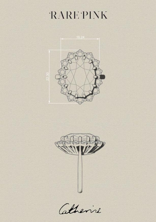 Kate Middleton Engagement Ring design Sketch