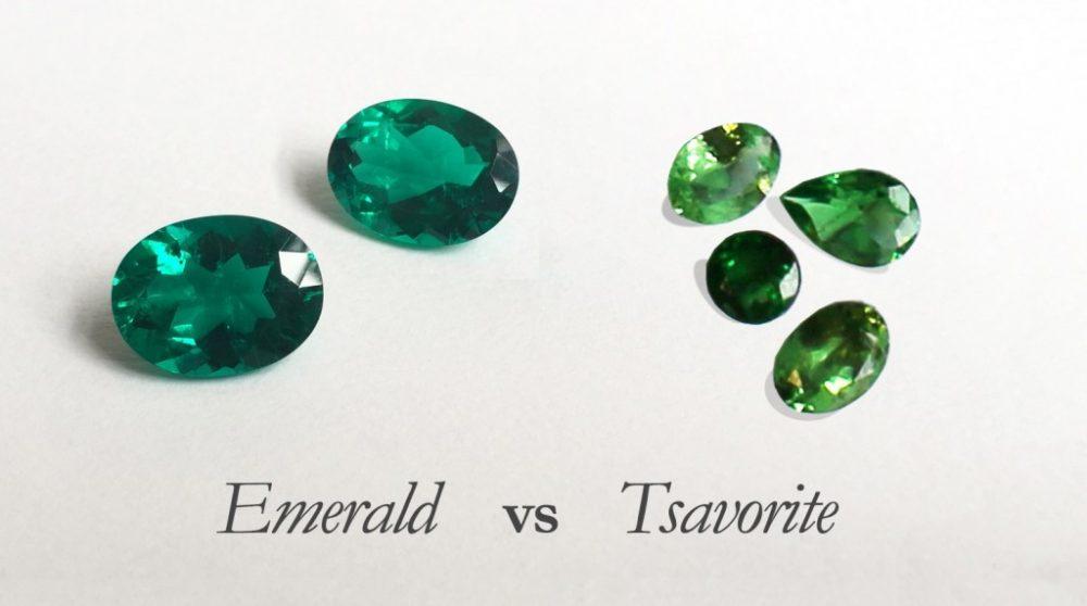 Emeralds and tsavorites