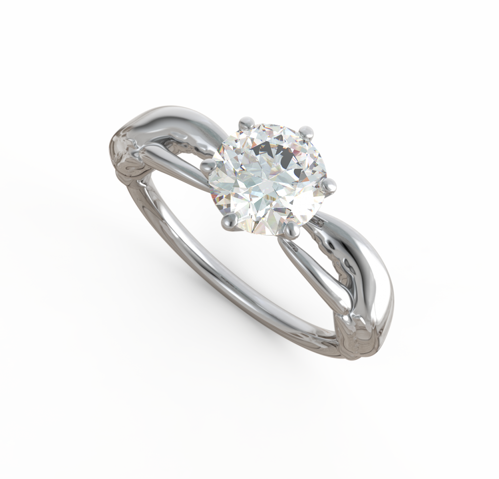 lobster inspired engagement ring