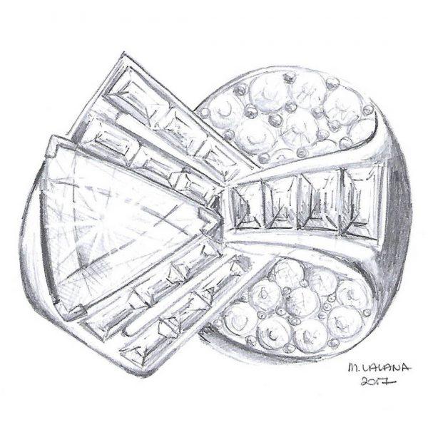 retro engagement ring design