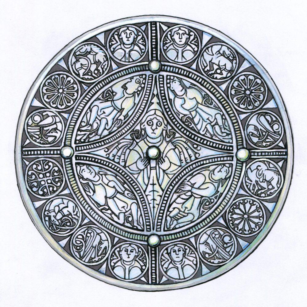 The Fuller Brooch sketch