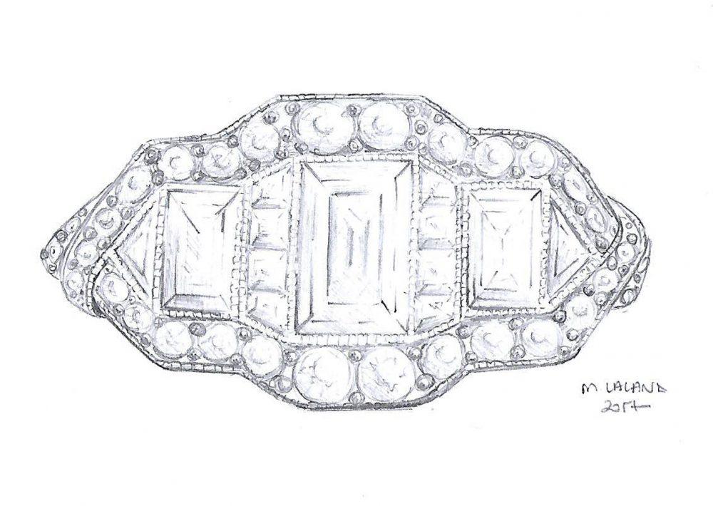 art deco engagement ring design