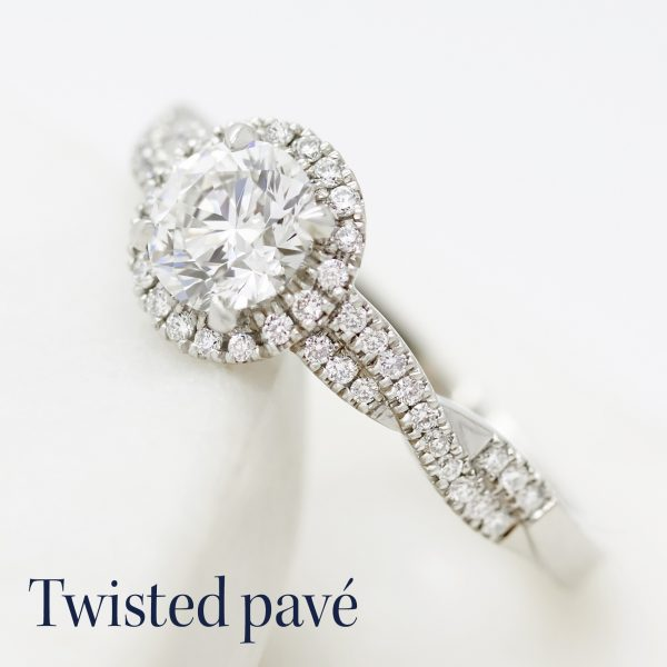 twisted pave shank