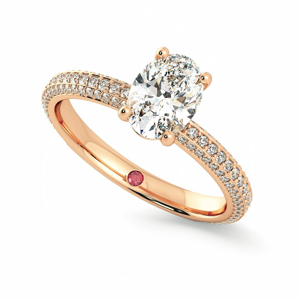 oval rose gold halcyon taylor and hart