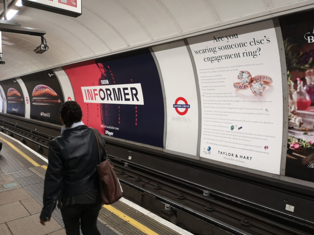 taylor and hart oxford circus tube campaign