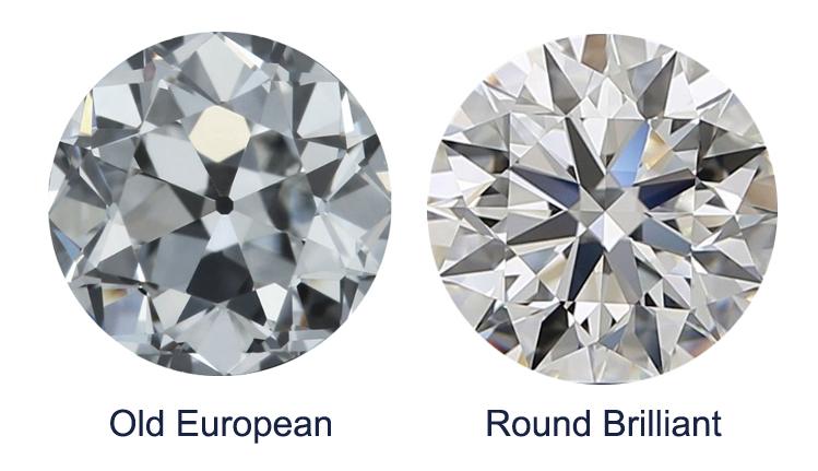 round brilliant vs old european cut