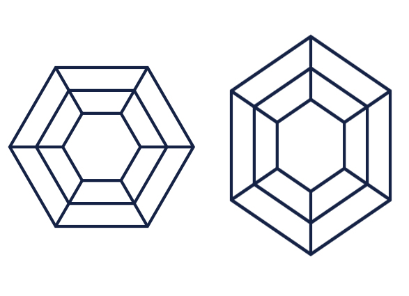 hexagonal diamond ratio