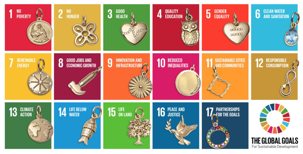 UN Global Goals jewellery