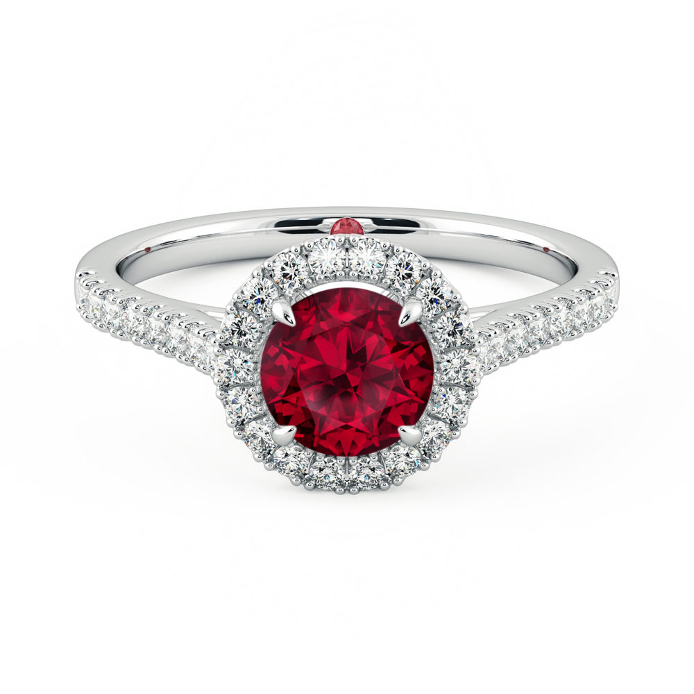 Taylor and Hart, Ruby Engagement Ring, Rubies, Ruby, July Birthstone