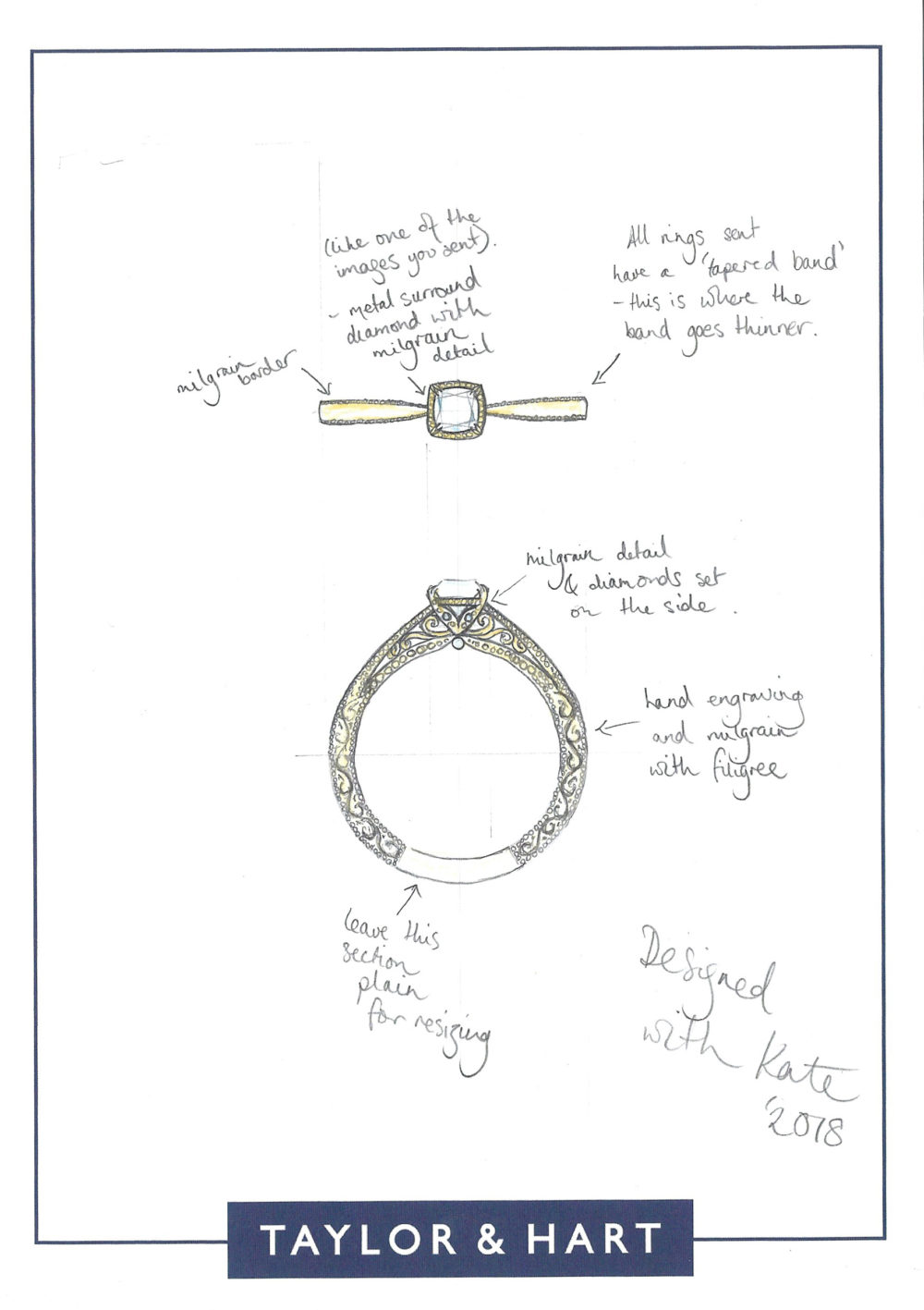 Taylor and Hart Customer Love Story, Engagement Ring, Happy Customers