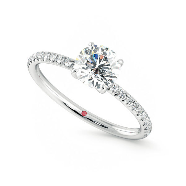 dulcet round platinum pave engagement ring