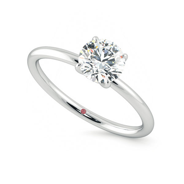 round demure platinum solitaire engagement ring