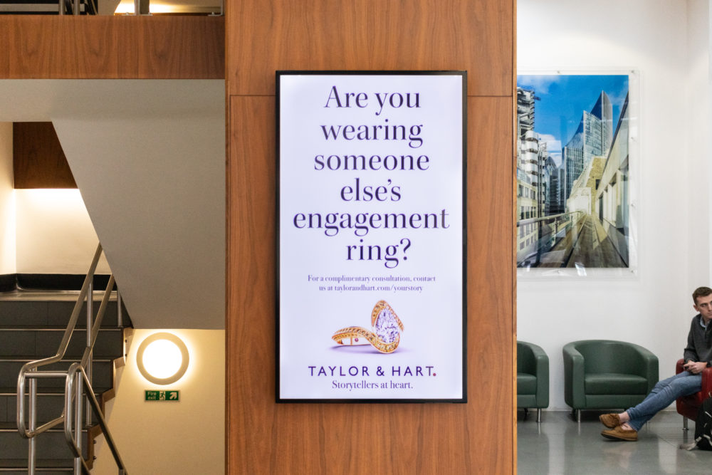 Taylor and Hart, Tube Campaign, advertising