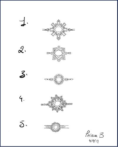 sketch of geometric ring
