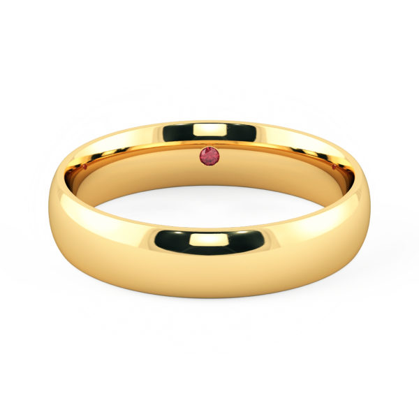 Mens wedding ring yellow gold court 5mm taylor and hart