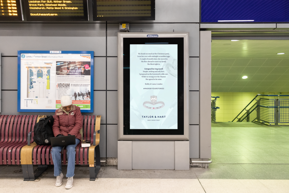 Taylor and hart bus advertisements made by your stories cannon street