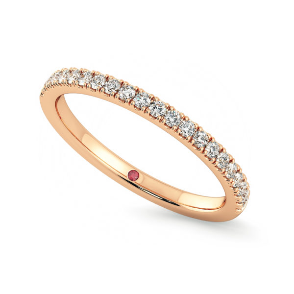 rose gold diamond pave wedding ring