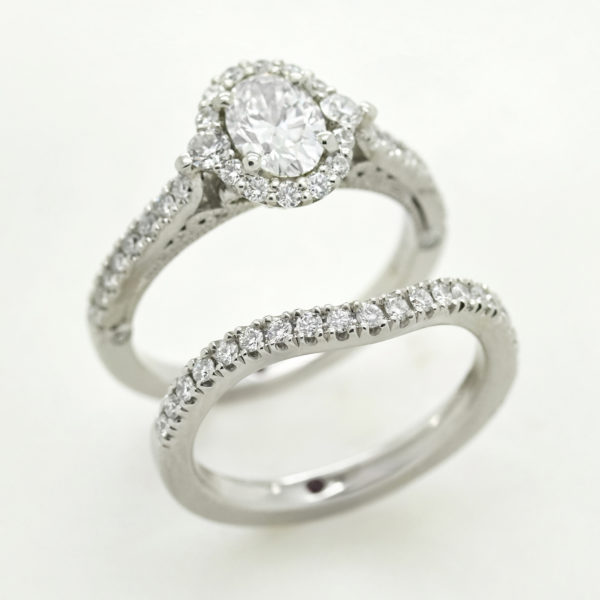curved fitted wedding ring to fit engagement ring